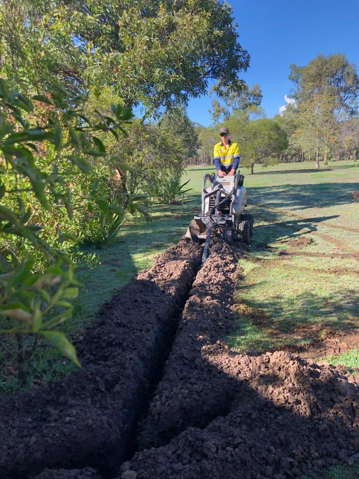 Doing Some Trenching For Power Installation