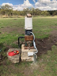 Pump Motor Control Box Installed
