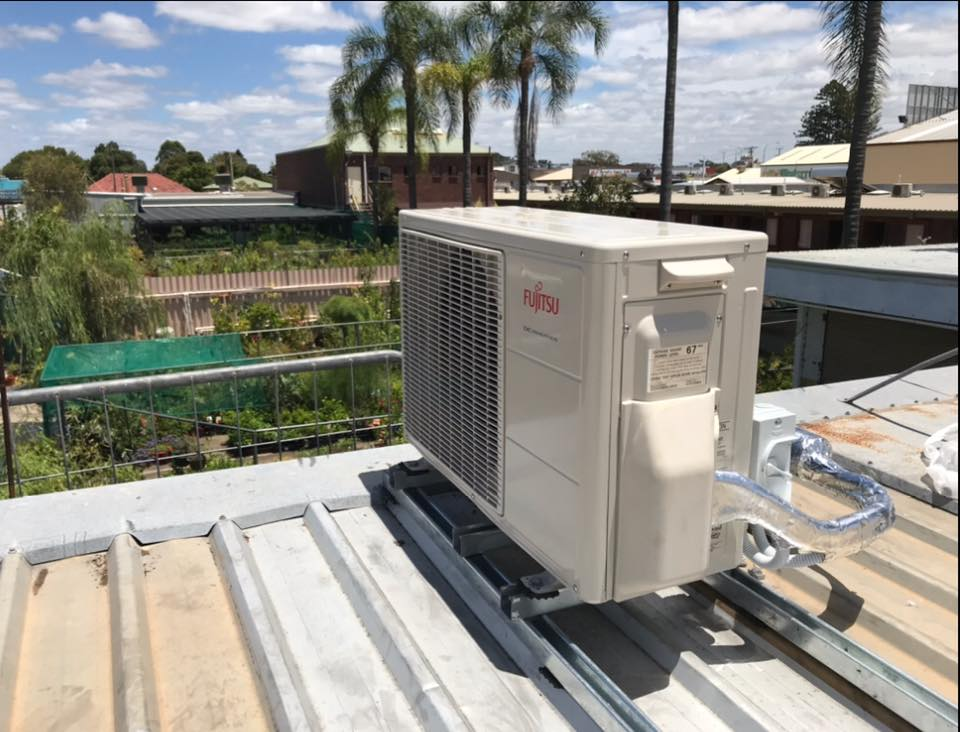Rooftop AC Installed by AMG Electrical Solutions
