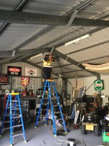 Shed Wiring for Power & LED in Blackbutt