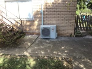 Split System Air Conditioner installed in Nanango