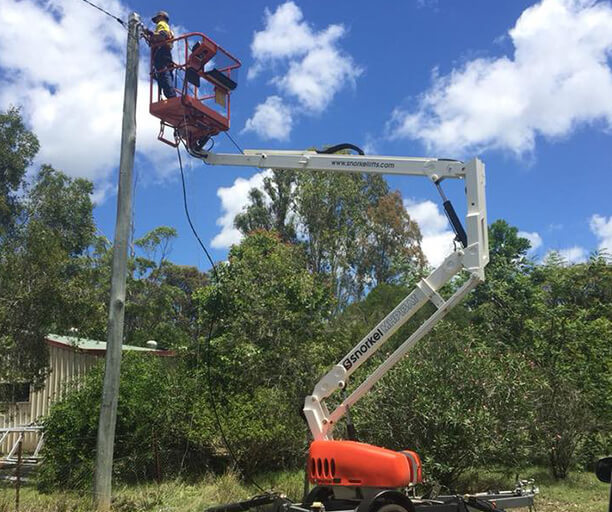 Electrician Nanango working on Overhead Power Repairs
