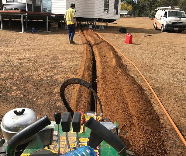 Blackbutt Underground Cabling Installation