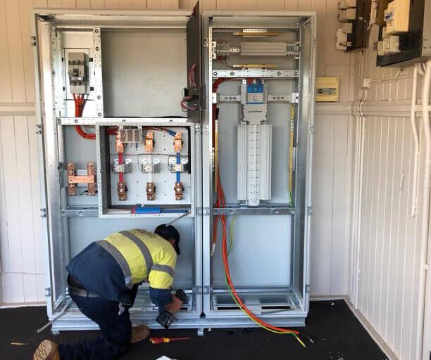 Electrician Kingaroy .. working in electrical box