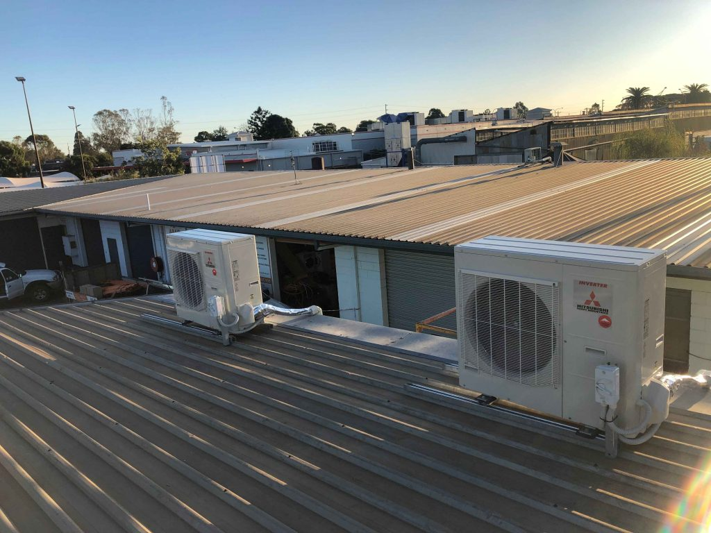 air conditioning units installed on roof