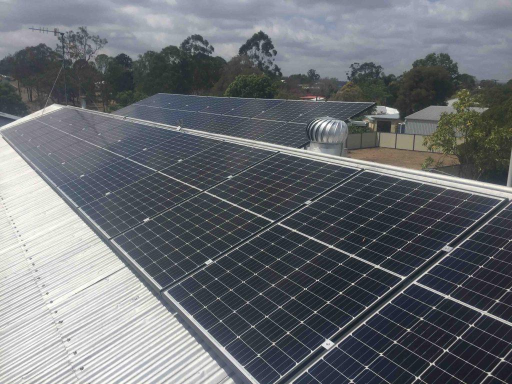 large solar setup